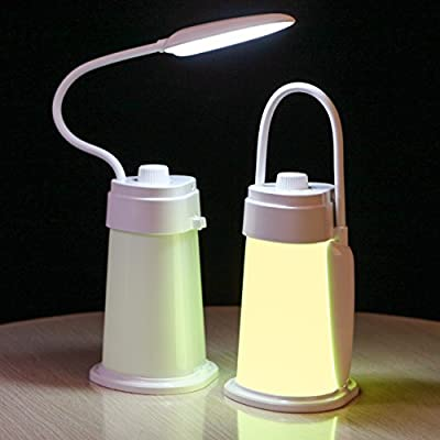Kids Reading Light Study Desk Lamp for Students - USB Charging Portable and Rechargeable 3-12 Hour Battery Camping Tent Lantern Lights Bedroom Bedside Nightstand Lamps - Baby Toddler Night Light