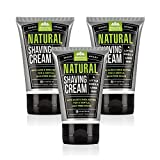 Pacific Shaving Company Natural Shaving Cream - Safe, Natural, and Plant-Derived Ingredients for a Smooth Shave, Softer Skin, Less Irritation, Cruelty Free, TSA Friendly, Made in USA, 3.4 oz (3-Pack)