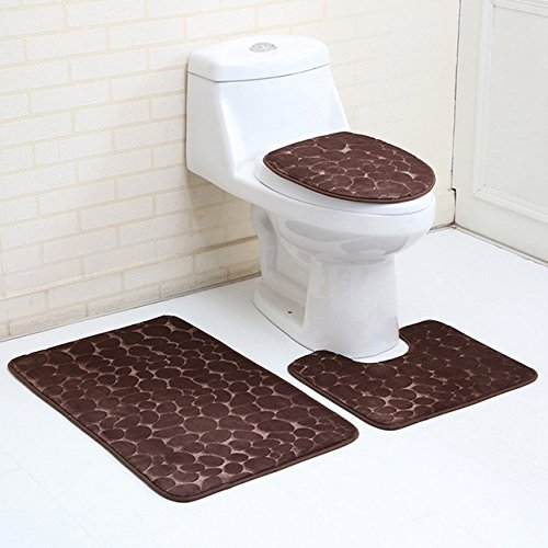 1 Set  Modern Flannel Carpet Bathroom Mat Toddler Non Slip T