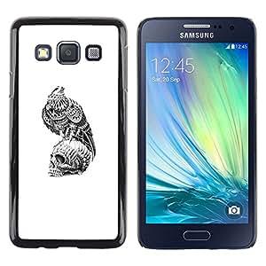 LECELL--Funda protectora / Cubierta / Piel For Samsung Galaxy A3 SM-A300 -- Freedom Skull Meaning Deep Hawk --