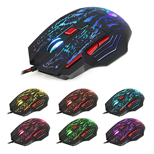 NNDA CO 5500 DPI 7 Keys Button LED Optical USB Wired Gaming Mouse Mice For Pro Gamer Hot (5500 Keyboard Mx Logitech)
