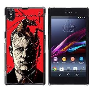 "For Sony Xperia Z1 Case , Lectura del libro Metamorfosis de Kafka"" - Diseño Patrón Teléfono Caso Cubierta Case Bumper Duro Protección Case Cover Funda"