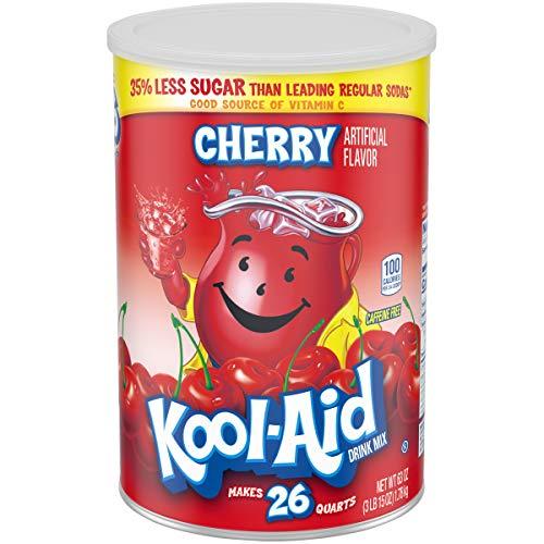 Kool-Aid Jumbo Cherry Drink Mix (63 oz Canister)