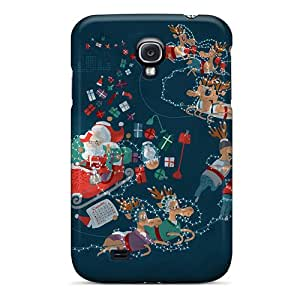 Shock Absorbent Hard Phone Cases For Samsung Galaxy S4 With Provide Private Custom Trendy Xmas Roller Coaster Image TimeaJoyce