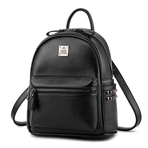 Paquet Black Lady Bag à Travelpack Leather Décontracté HMWHJP Bandoulière Backpack Mini Cuir Bronze Cute Shoulder Sac xZy1wq7H