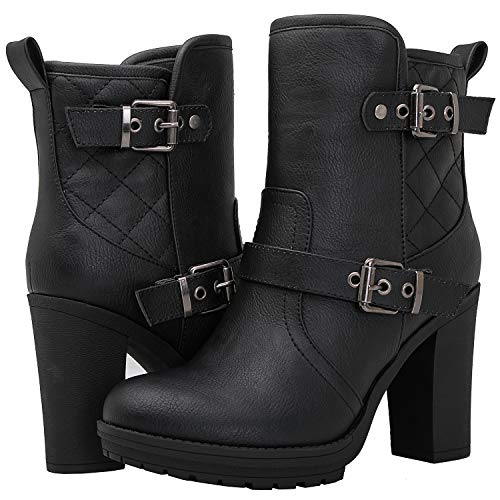 Heel Ankle High Boots - 6