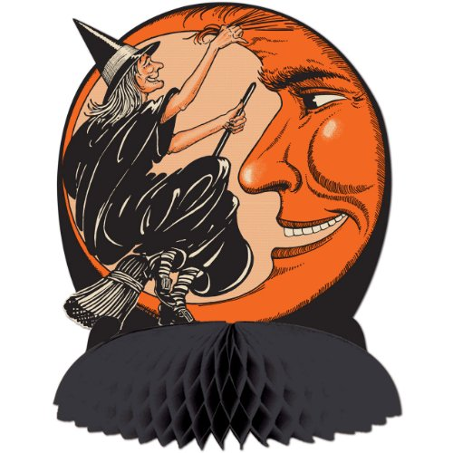 Beistle Witch and Moon Centerpiece,