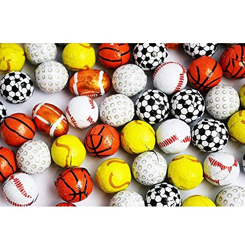 FirstChoiceCandy Assorted Sports Milk Chocolate Mix Balls 2 Lb (Football - Baseball - Golf ball - Basketball - Tennis ball - Soccer ball) for $<!--$20.99-->