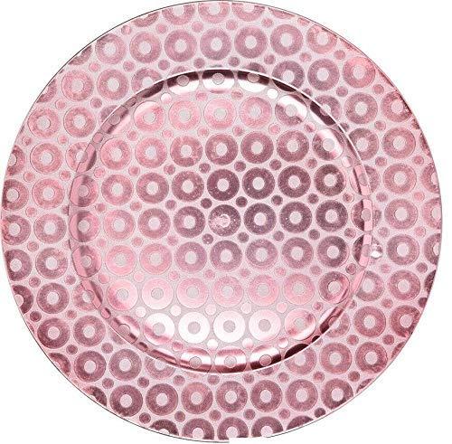 Shell Set of 4 Shiny Pink Charger Plates Under Plates 33cm Premium Range