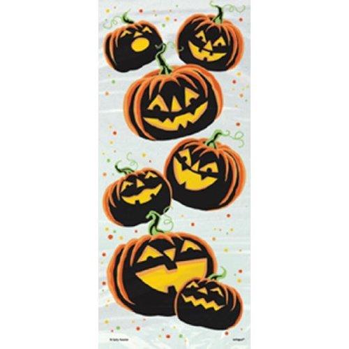 Pumpkin Grin Halloween Cellophane Bags, 20ct ()