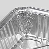 [50 Pack] Rectangular Disposable Aluminum Foil