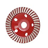 Walmeck 5'' Diamond Segment Grinding Wheel Disc Bowl Shape Grinder Cup 22mm Inner Hole for Concrete Building Industry