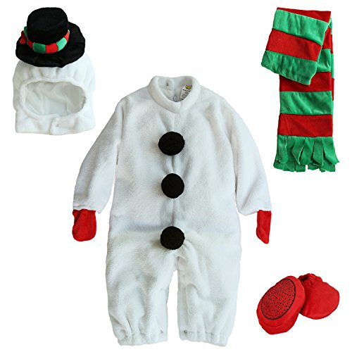 Mengbeibei Unisex Baby Snowman Costume Reindeer Halloween Onesie Cosplay Infant Pajamas Set (12-18 Months) for $<!--$29.99-->