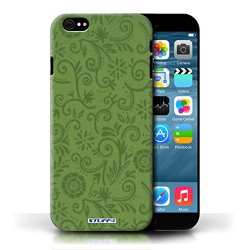 Etui / Coque pour Apple iPhone 6/6S / Fleur verte conception / Collection de Motif Remous floral