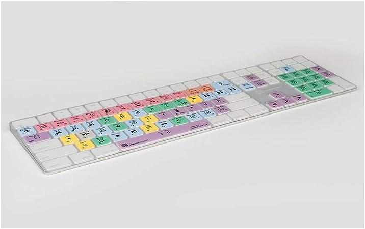 LogicSkin Transparent Final Cut Pro X Compatible with Mac Magic Keyboard with Numeric Keypad LK-LS-FCPX10-M89