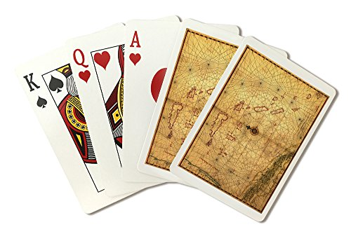 Card Panoramic (The Bahamas - (1650) - Panoramic Map (Playing Card Deck - 52 Card Poker Size with Jokers))