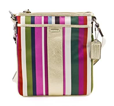 Coach Signature Legacy Stripe Swingpack Crossbody Bag 48615 Multi
