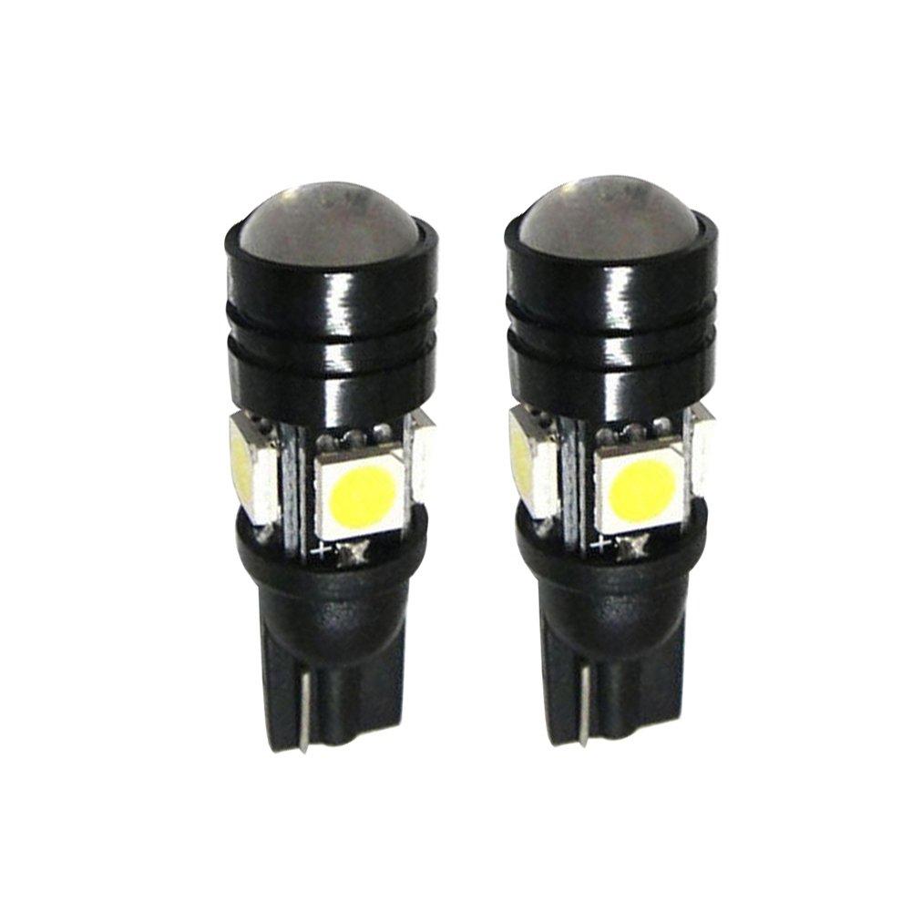 Connoworld Clearance Sale 2Pcs 12V T10 LED Light Bulb with COB Projector Auto Car Vehicle Width Lamp White Light