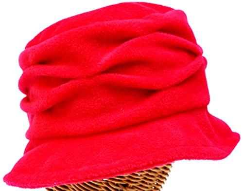 Fleece Pleated Wave Cloche...