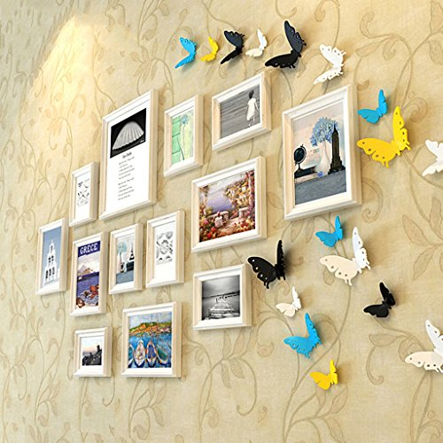 Home@Wall photo frame Photo Gallery Frame Set Of Wall With Usable Artwork And Family, Set Of 13 ( Color : C ) by ZGP