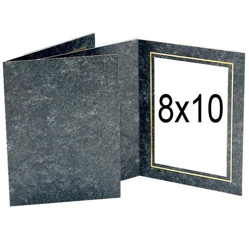Tap Picture Avanti Folder Frame, For 8x10'' Photo, Side loading, Color: Black Marble/Gold Foil, Pack of 25 by Tap