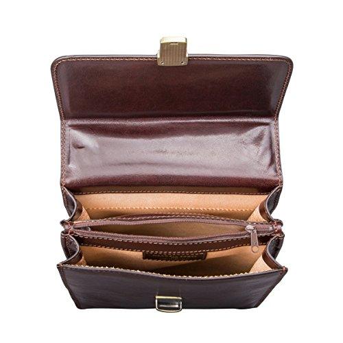 italiana mediana de Black personalizado Scott® lujo de bolso SantinoM 5060463870751 marrón Maxwell hombres Night bandolera oscuro piel Negro qHvAB