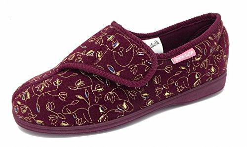 sale retailer d8d5b 445ba Dunlop - Zapatillas de estar por casa para mujer rojo - Wine