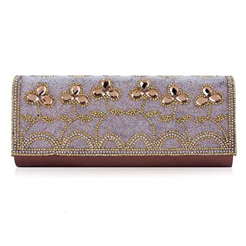 Adorned Coffee Handbags Damara Women Rectangular Beadings Damara Women Beadings Evening AfwXTT