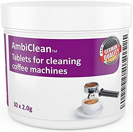 AmbiClean - fácil de usar máquina de café y ESPRESSO máquina limpiador de pastillas de limpieza para mejor café sabor: Amazon.es: Hogar