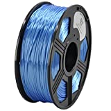 YOYI Silk Like Polymer Composite Blue 1KG 1.75mm Polymer 3D Printer Filament, Diameter Tolerance +/- 0.05 mm, 1 KG Spool, 1.75 mm, Silk Like Filament Blue