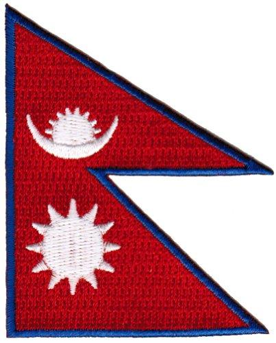 Nepal Flag Embroidered Patch Nepali Nepalese Sherpa Iron-On National Emblem