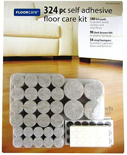 Floorcare Self Adhesive Floor Care Kit for Hardwood and Laminate Floors, 324 pieces