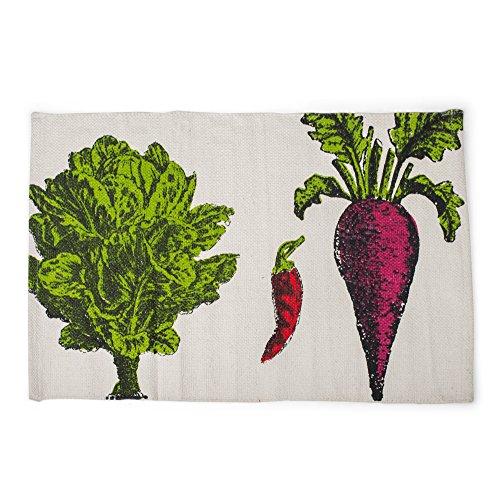 Lettuce Pepper Turnip Vegetable 21 x 34 Inch Cotton Hand Woven Floor (Graduation Brunch Ideas)