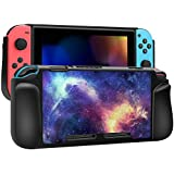 Fintie Case for Nintendo Switch, Vegan Leather Coated Hard Shell Protective Back Cover Shock Absorption [Snap On] Ergonomic Grip for Nintendo Switch, Retail Package (Galaxy)