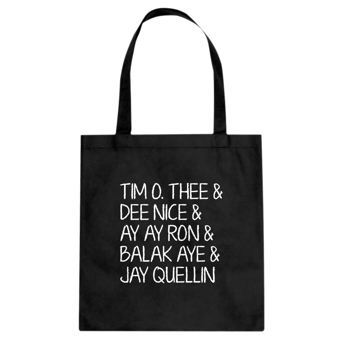 Indica Plateau Tim O Thee /& Dee Nice /& Ay Ay Ron /& Balak Aye /& Jay Quellin Cotton Canvas Tote Bag
