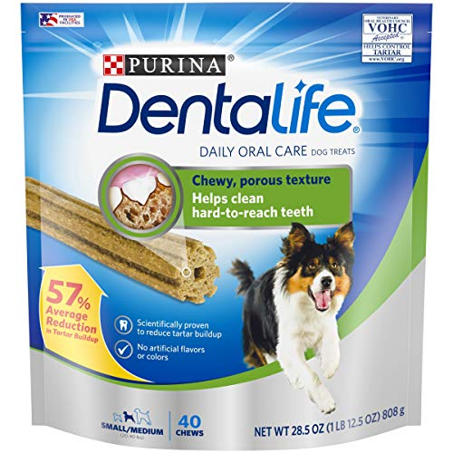 Purina DentaLife Made in USA Facilities Small/Medium Dog Dental Chews; Daily - 40 ct. Pouch