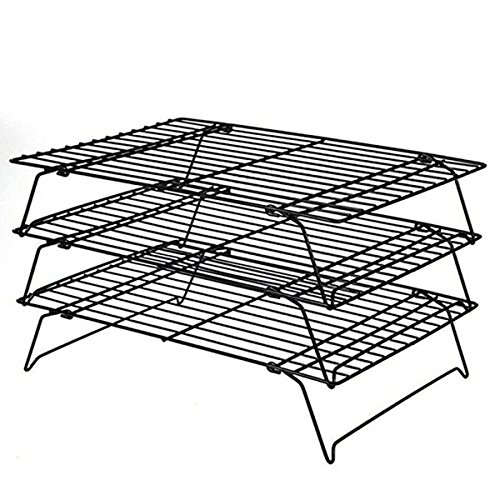 Popowbe 3-Tier Carbon Steel Stackable Cooling Rack Baking Racks