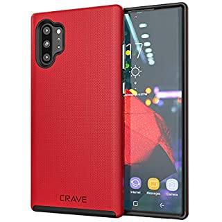 Crave Note 10+ Case, Crave Dual Guard Protection Series Case for Samsung Galaxy Note 10 Plus - Red