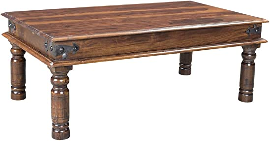 Cheap Timbergirl Hand-Crafted Thakat Rustic Coffee Table living room table for sale
