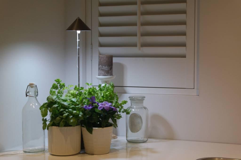 LED Wachstumslampe fürs Zimmergraphit, 7 Watt Pflanzenleuchte Pflanzenlicht Licht für Pflanzen Baldur-Garten 59101