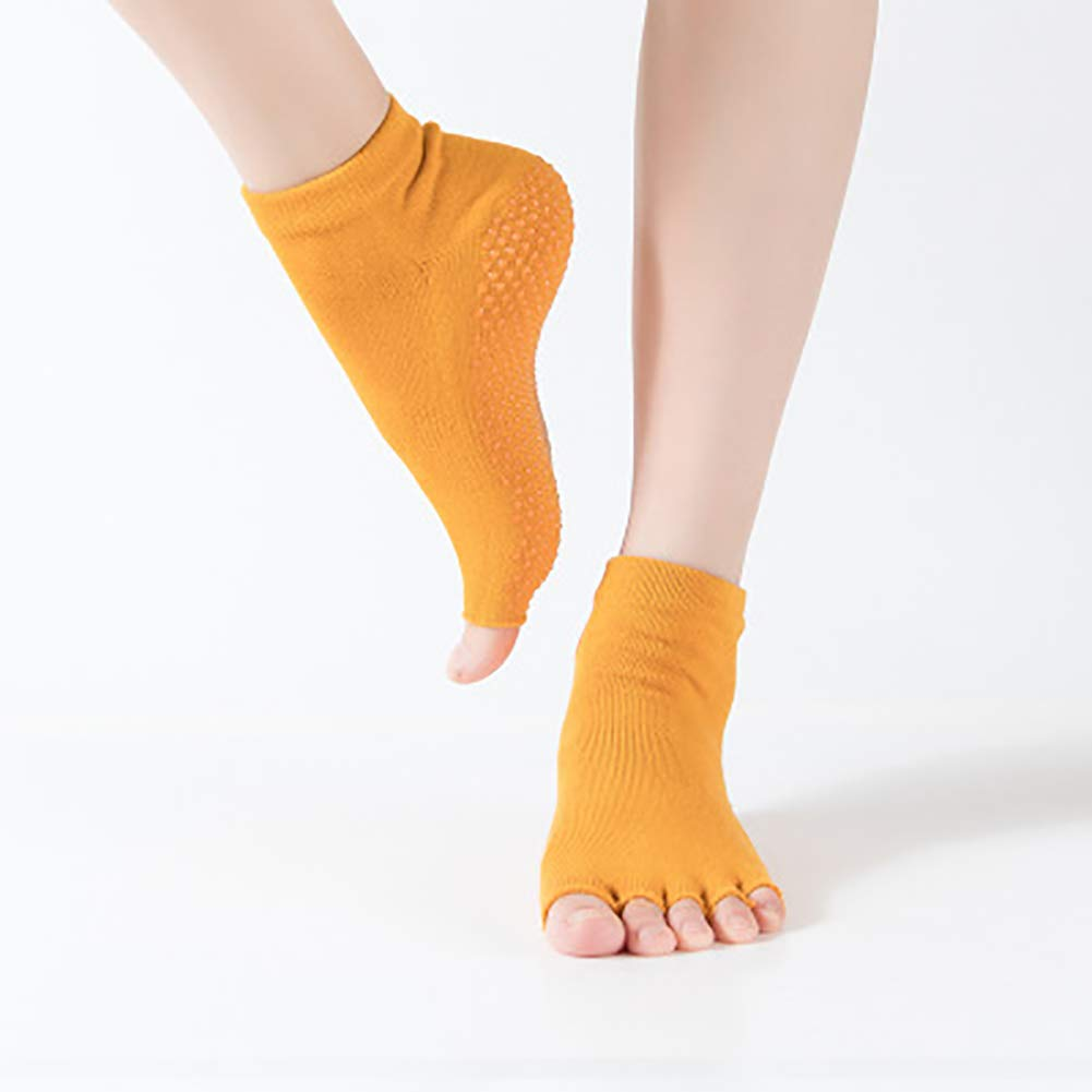 KINJOHI Mujer Calcetines Antideslizantes Pilates Barre Grips Ballet Yoga  Pilates Barre Toe Calcetines  Amazon.es  Deportes y aire libre d68c5d6829d2