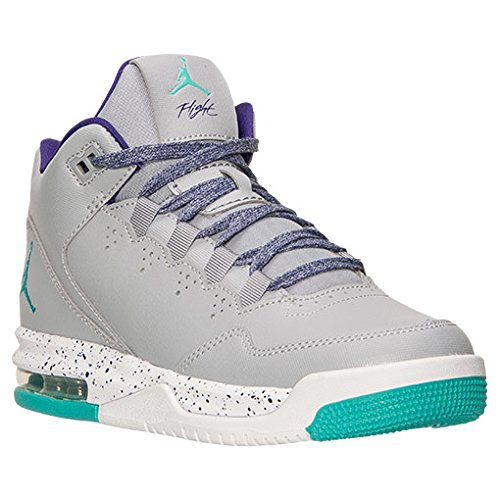 Nike Girls Jordan Flight Origin 2 GG Grey/Purple/White/Retro 718075-008 (Size: 9.5Y)