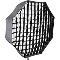 Neewer Photo Studio 47 inches/120 centimeters Octagonal Umbrella Type Speedlite Softbox with Honeycomb Grid and Carrying Case for Portrait, Lighting Studio Product Photography and Video Shooting