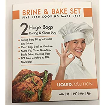 Brining and Oven Bag Combo Extra Large BPA Free Resealable Brining Bags for Huge Turkey. Tested to FDA Food Standards. Built with Thick Materials and Seams Wild Game, Ham, Roast, Deer, Jerky, Marinade
