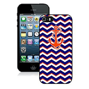BINGO wholesale price Chevron Pattern Blue With Anchor iPhone 5 5S Case Black Cover
