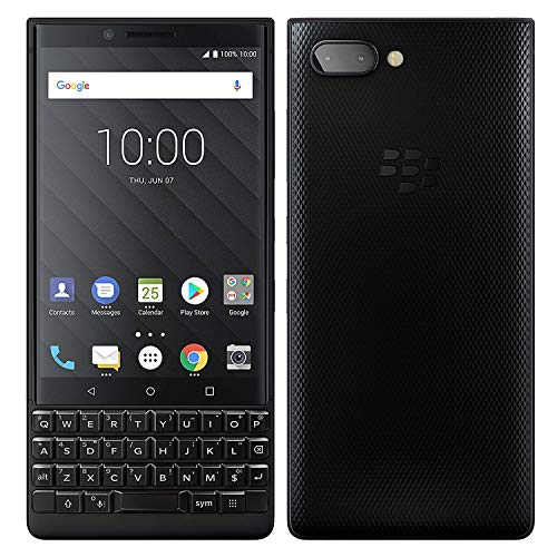(Blackberry Key2 128GB (Dual Sim BBF100-6) Unlocked GSM - International Version (Black Edition, English UK)