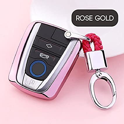 Amazon Com Atonix Rose Gold Keyless Entry Remote Cover Soft Tpu Key