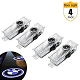 Car Door Lights, LED Logo Projector Light for BMW, Ground Lamp Kit for BMW 3 5 6 7 X1 X3 M3 M5 GT Series (4 Pack)