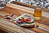 Rectangle Edge Grain Cutting Board W/Hand Grip and Juice Canal Home Kitchen Furniture Decor