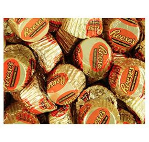 Gold & Orange Mini Reese's Peanut Butter Cups Candy 5LB Bag ()